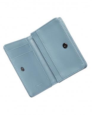 ライトブルー  フラップ型押しコイン&カードケース見る