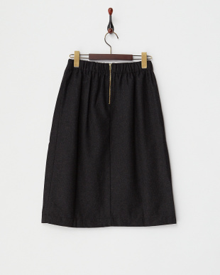 ブラック  箔プリーツスリットスカート見る
