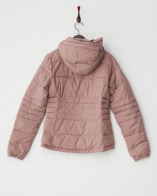 ピンク 3M Thinsulate 撥水 フーデッド中綿ジャケット見る
