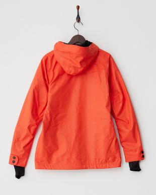 オレンジ  ストレッチスノーボードジャケット見る