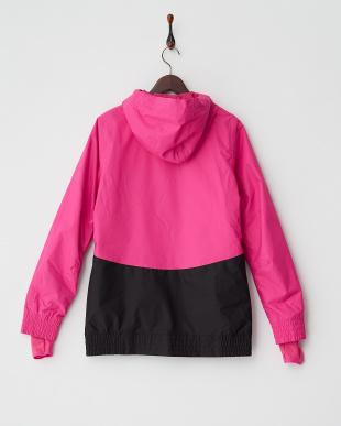 ピンク  配色切り替えスノージャケット見る