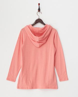 ピンク  フード付きL/S.Tシャツ見る