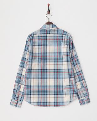 BL/WH/RD CHECK 107-AXL-SP351146 チェックシャツ見る