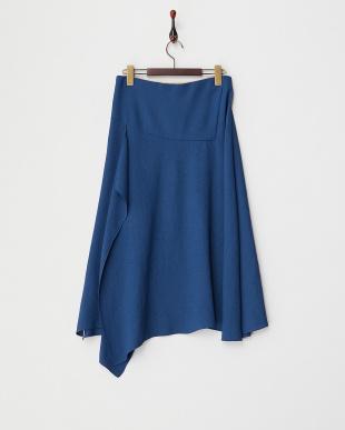 ブルー アシンメトリースカート見る
