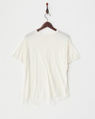 ホワイト コットンレーヨンTシャツ見る