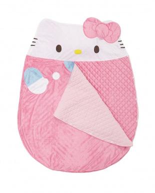 ピンク ハローキティ 寝袋型おひるねふとん見る