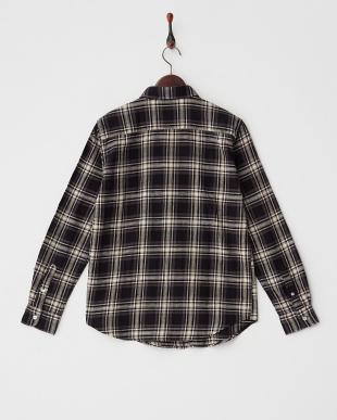 BLK  ネップチェックワークシャツ WH見る