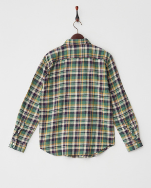 GRN  ネップチェックワークシャツ WH見る