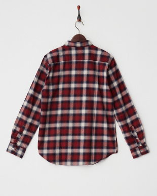 RED  オンブレーチェックシャツ WH見る