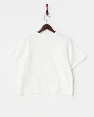 ホワイト メタルリングドットTシャツ見る