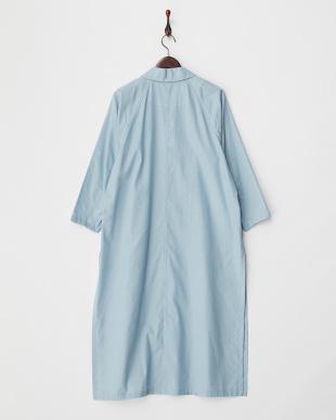 ライトブルー シルク混シャンブレーシャツコート見る
