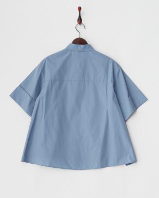 ライトブルー  Aラインボードシャツ見る