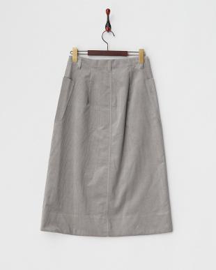 グレー  コーデュロイロングスカート見る