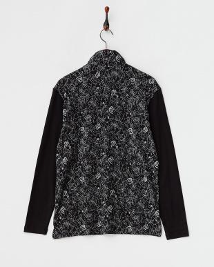 ブラック オリジナルジャガード/デュアルウォームベア天竺起毛長袖シャツ見る