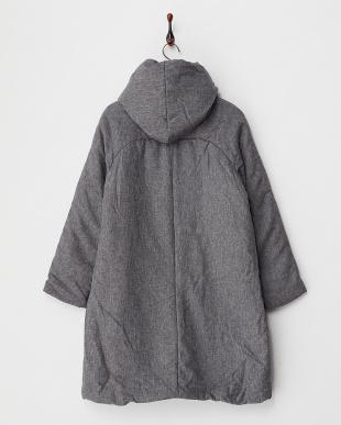 Charcoal Gray 中綿フード付コート見る