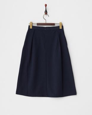 Navy  ポンチデザインスカート見る