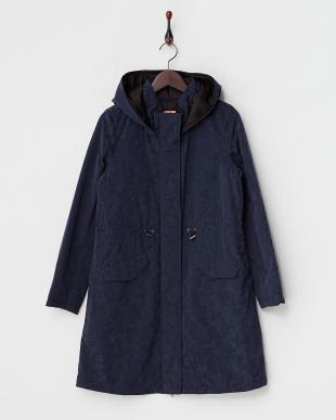 ベージュ  重ね着 中綿入りコート見る