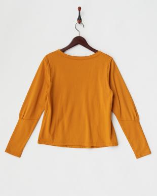 オレンジ 立体刺繍 ミニ裏毛プルオーバー見る