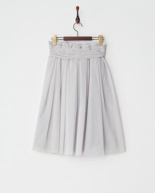 GRAY  シフォンオーガンジースカート見る