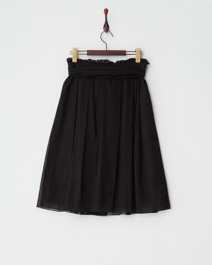 BLACK  シフォンオーガンジースカート見る