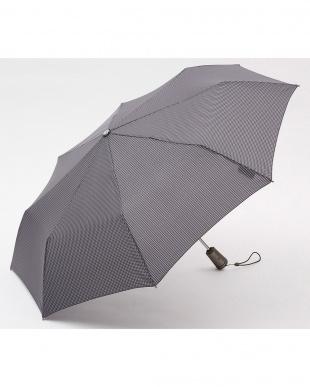 ハウンドトゥースW81/ネイビー 自動開閉折りたたみ傘セット②見る