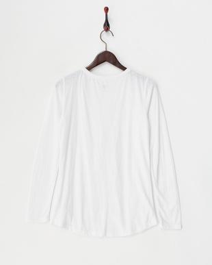 ホワイト  カットシャツ型プルオーバー見る