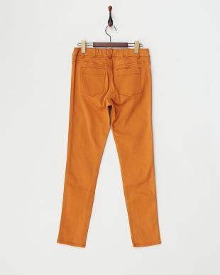 オレンジ  プレミアムフィットストレッチパンツ見る