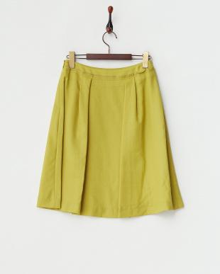 キミドリ ウールジョーゼットスカート見る