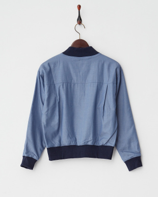 BLUE MID  DROP SLV ZIP UP BLOUSON見る