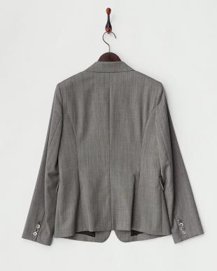 グレー  ウールシルク 2Bジャケット見る