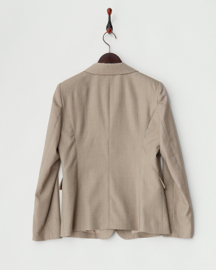 ベージュ  ウールシルク 2Bジャケット見る