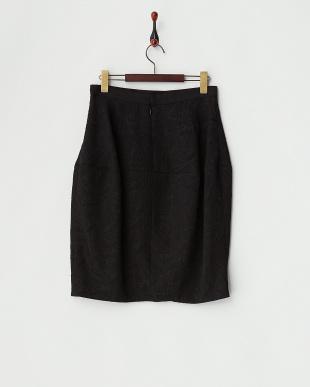 ブラック 膨れジャガードスカート見る