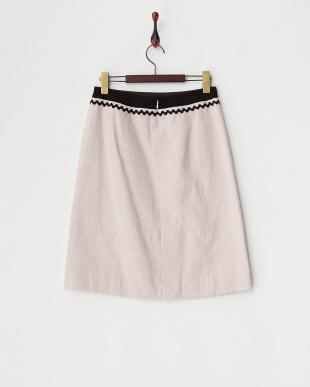 ライトピンク  ウェーブトリムスカート見る