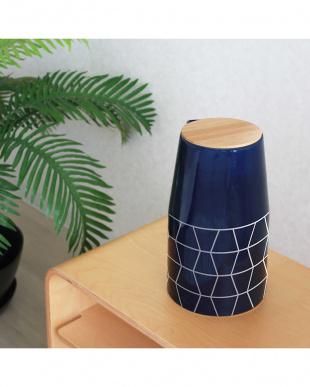 ブルー  Nordic Collection 陶器 アロマ超音波式加湿器 M見る