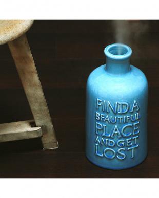 ブルー  VINTAGE Collection陶器 アロマ超音波式加湿器 M見る