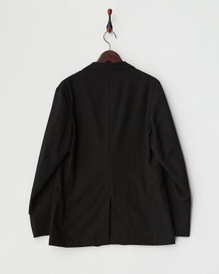 ブラック  ポリエステルレーヨン梨地トラベラースジャケット見る