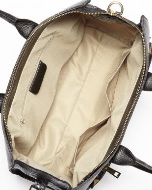 キャメル  イタリアンカーフサイドパイソン型押しバッグ見る