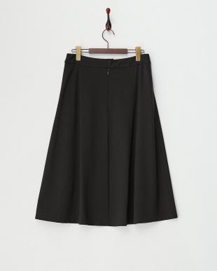 ブラック  ジャージーフレアスカート見る