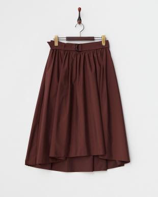 ボルドー  フイッシュテールギャザースカート見る