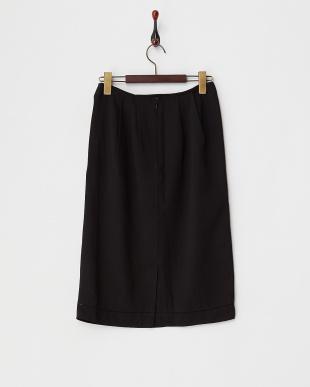 ブラック 裾ハシゴレーススカート見る