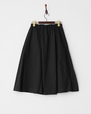 Black ウエストコードギャザースカート見る