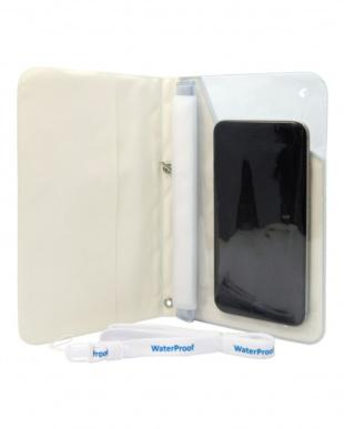 ホワイト  EXCASE 手帳型 防水ケース見る