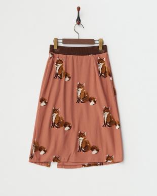 シナモンピンク フロッキーフォックス カットスカート見る