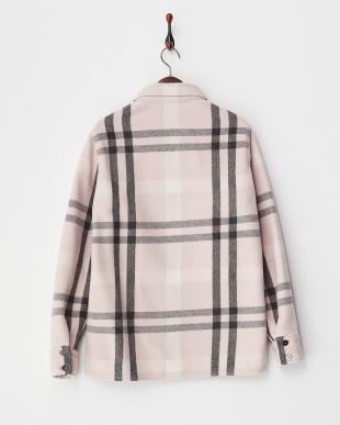 PINK チェック柄 シャツデザインジャケット見る