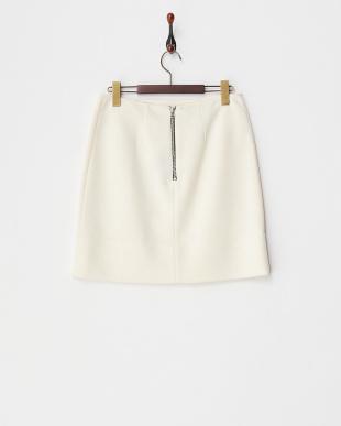 WHITE サイドスリット ボンディングスカート見る