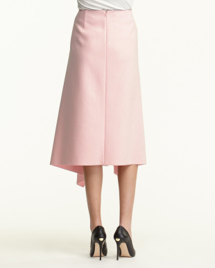 PINK フェルト調ドレープスカート見る