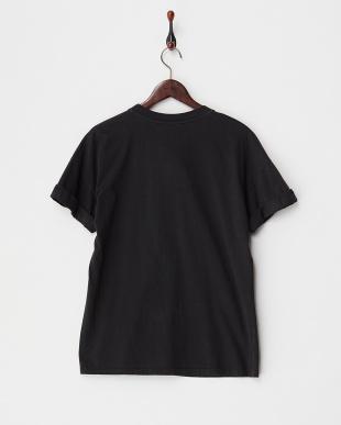 BLACK センター切り替え プリントTシャツ見る