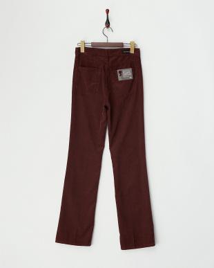 BROWN バーガンディブラウン ボタンフライCorduroy Pants見る