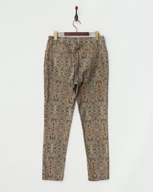 カーキブラウン系 RICCO Long pants・ストレッチ見る