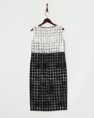 ホワイト×ブラック DARWIN Dress・シルク見る
